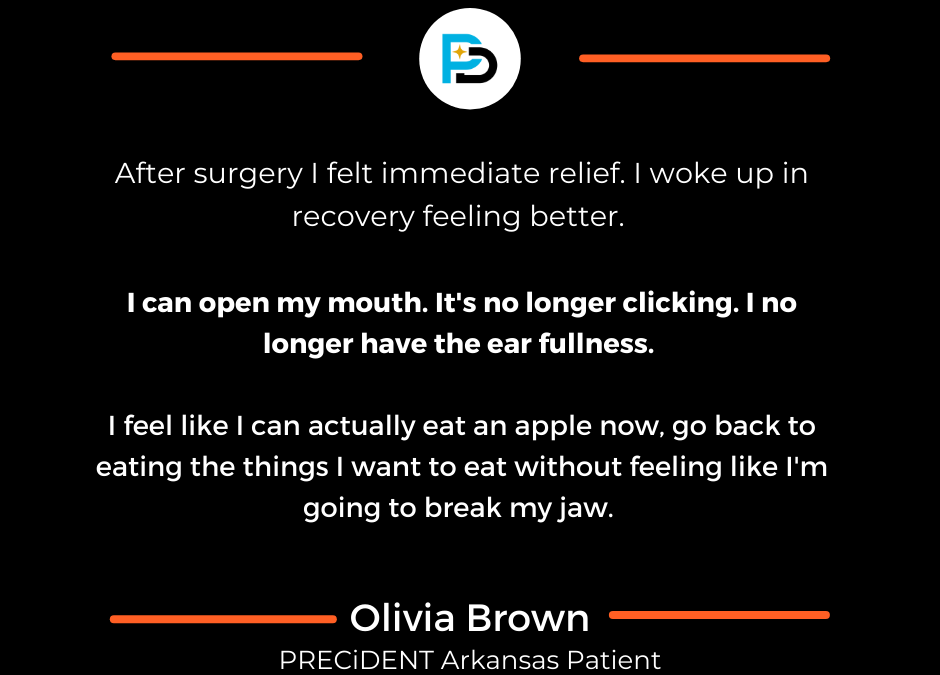 Arkansas Resident Finds Relief from TMJ Pain